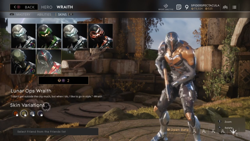 Wraith Bronze Lunar Ops skin