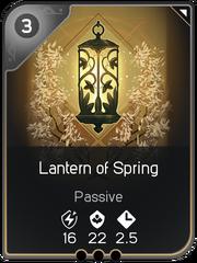 Lantern of Spring card