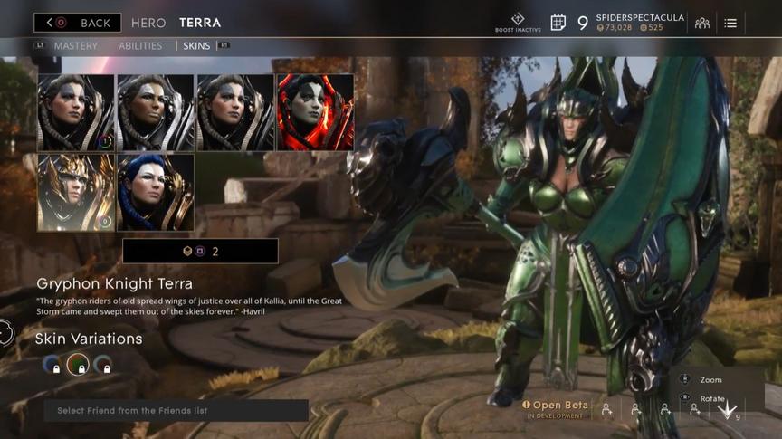 Terra Jungle Gryphon Knight skin
