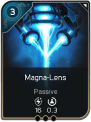 Magna-Lens card