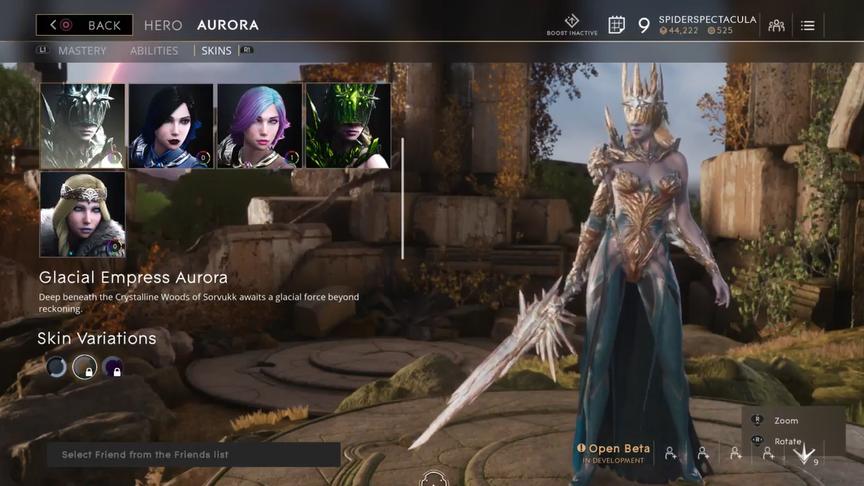 Aurora Topaz Glacial Empress skin