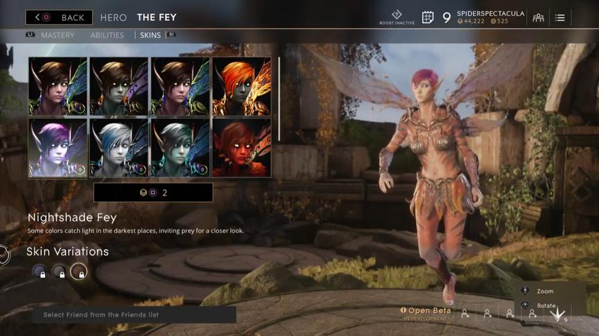 The Fey Rusted Nightshade skin