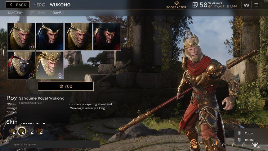 Wukong Sanguine Royal skin