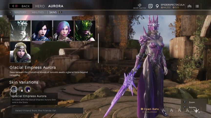 Aurora Ultra Glacial Empress skin
