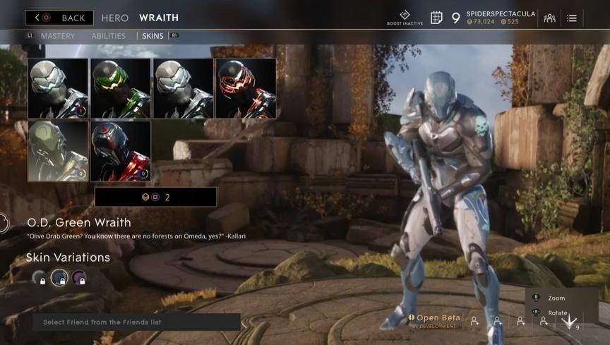 Wraith Ocean O.D. skin