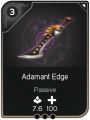 Adamant Edge card