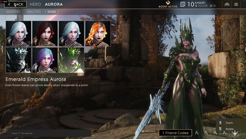 Aurora Emerald Empress skin