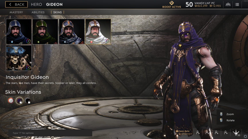 Gideon Purple Inquisitor skin