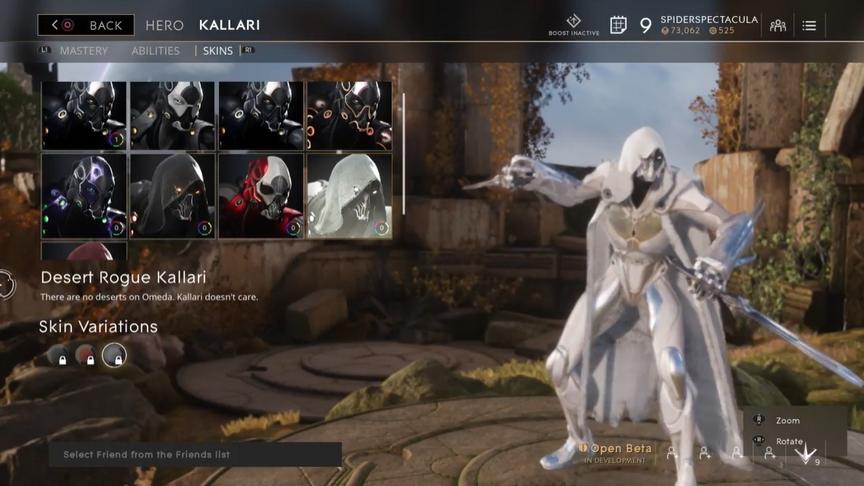 Kallari Alabaster Desert Rogue skin