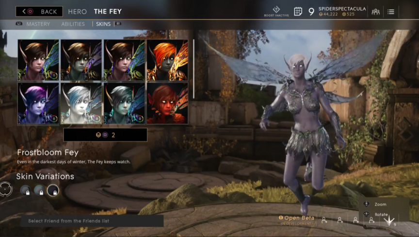 The Fey Orchid Frostbloom skin
