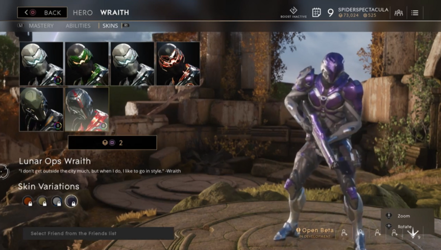 Wraith Orchid Lunar Ops skin