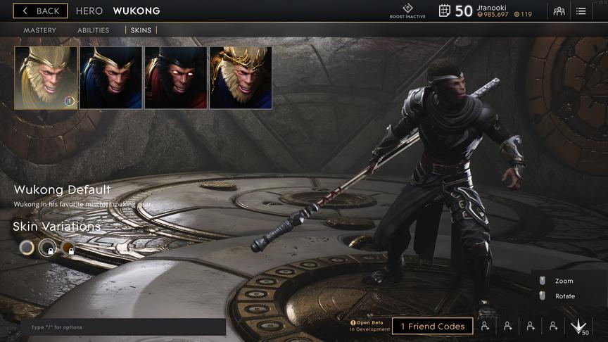 Wukong Gunmetal Default skin
