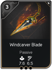 Windcarver Blade card