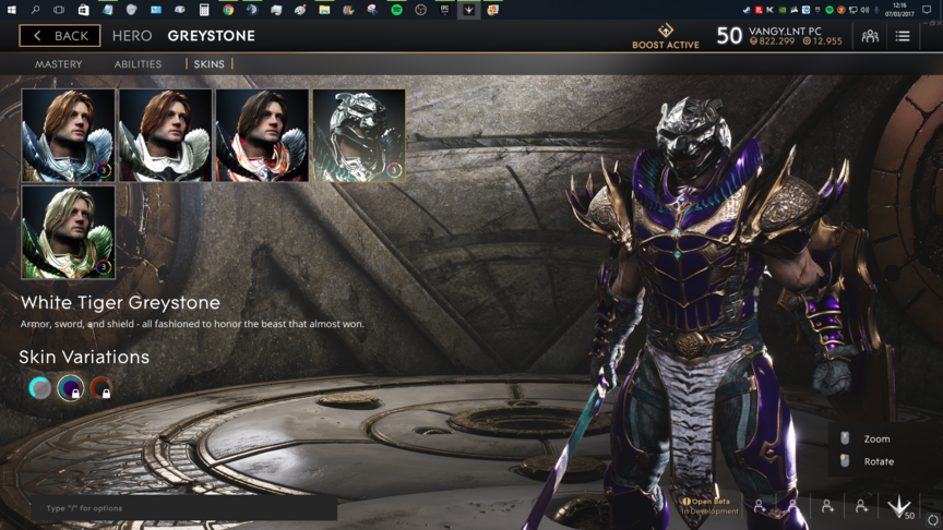 Greystone Purple White Tiger skin