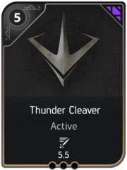 Thunder Cleaver card