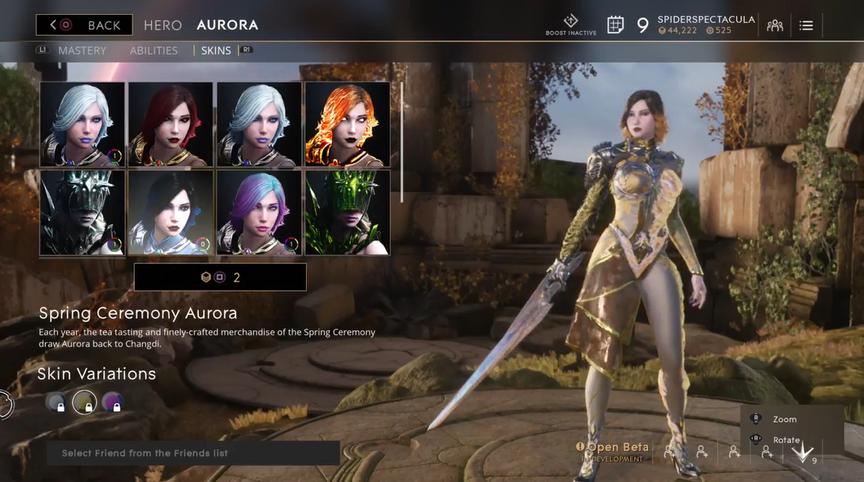 Aurora Gilded Spring Ceremony skin