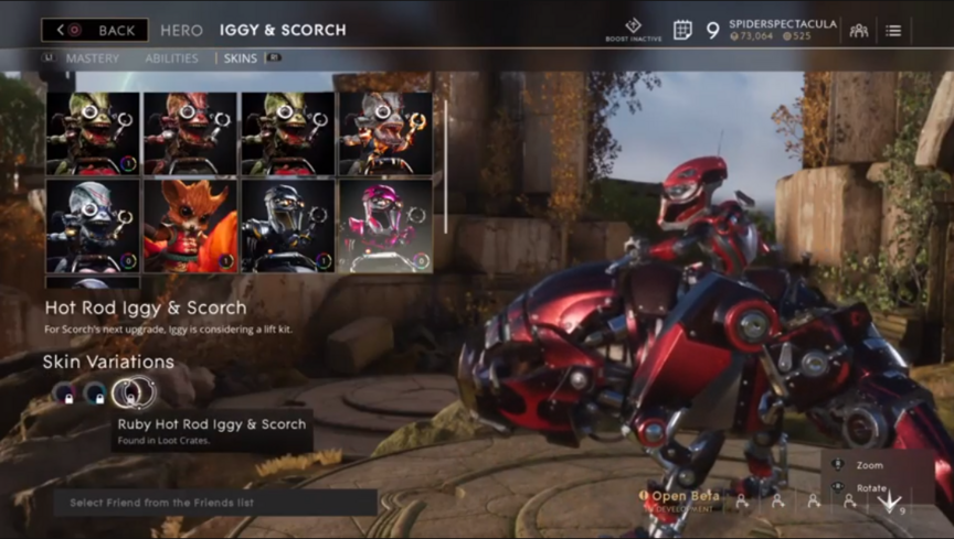 Iggy and Scorch Ruby Hot Rod skin