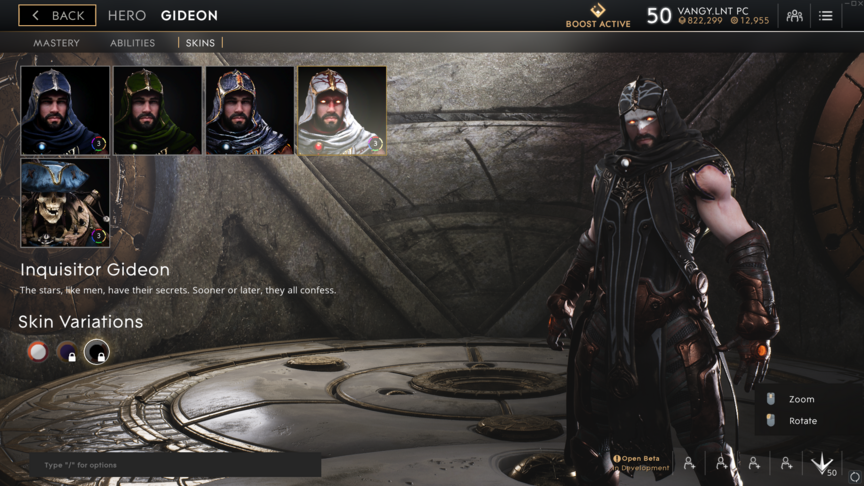 Gideon Black Inquisitor skin