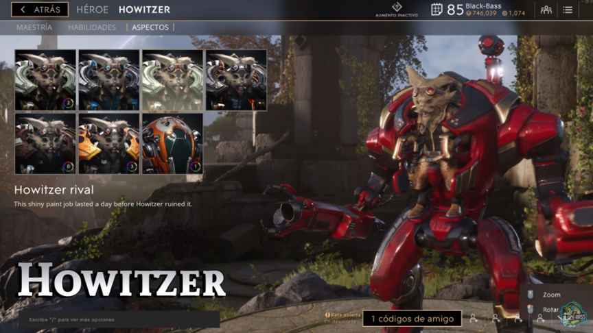 Howitzer Rival skin