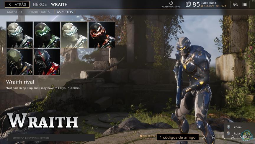 Wraith Rival skin