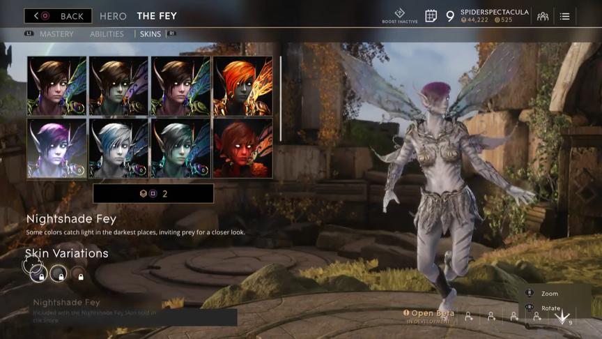 The Fey Onyx Nightshade skin