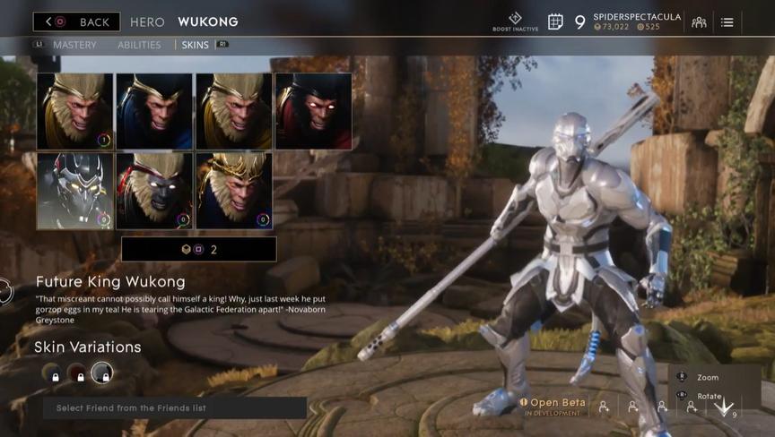 Wukong Pearl Future King skin