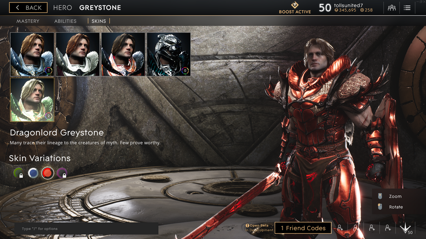 Greystone Red Dragonlord skin