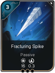 Fracturing Spike card