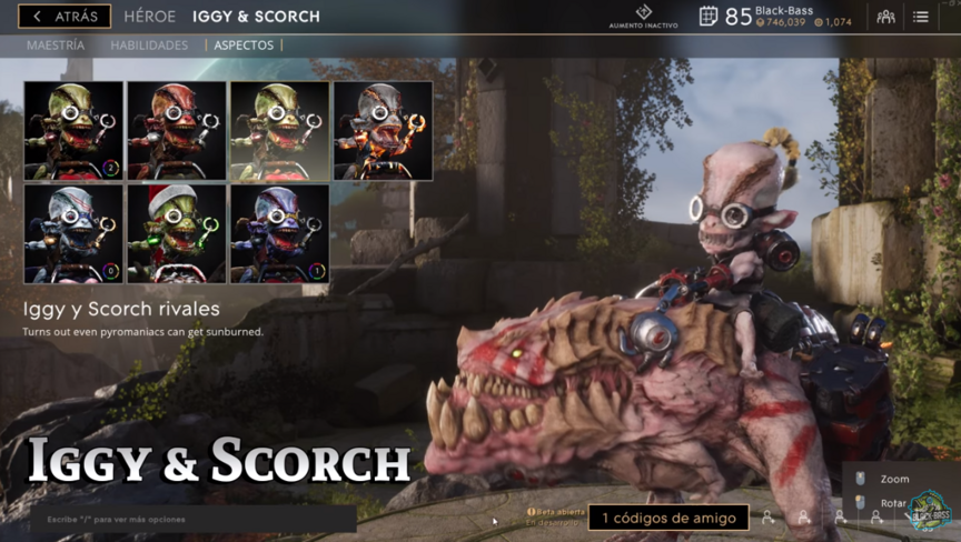 Iggy and Scorch Rival skin
