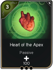 Heart of the Apex card