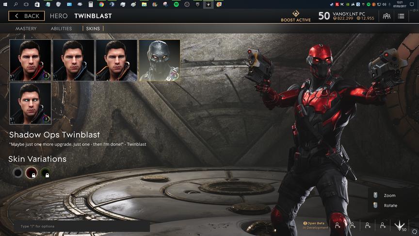 TwinBlast Red Shadow Ops skin