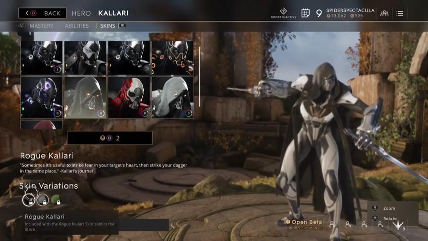 Kallari Alabaster Rogue skin