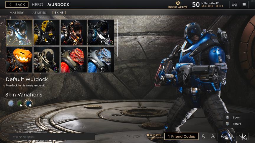 Murdock Blue Default skin