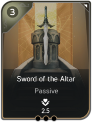 Sword of the Altar card