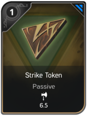 Strike Token card