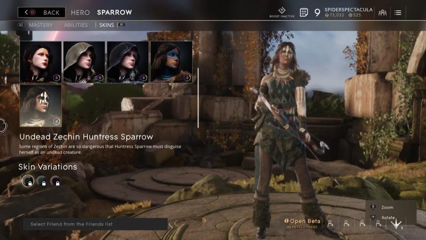 Sparrow Undead Zechin Huntress skin