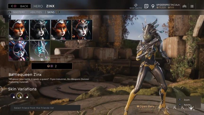 Zinx Topaz Battlequeen skin