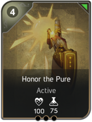 Honor the Pure card