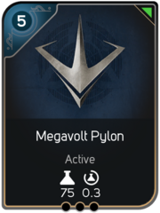 Megavolt Pylon card