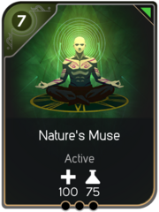 Nature's Muse card