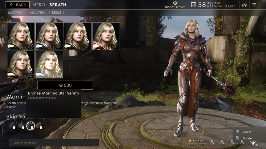 Serath Bronze Morning Star skin
