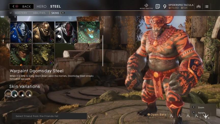Steel Molten Warpaint Doomsday skin