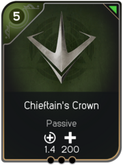 Chieftain's Crown card