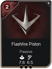 Flashfire Piston card