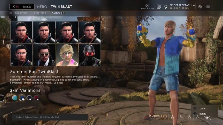 TwinBlast Cobalt Summer Fun skin