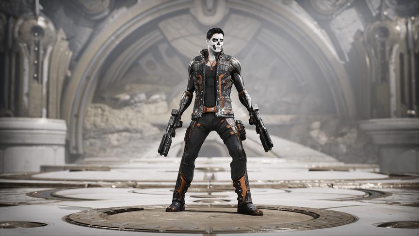 TwinBlast Skull-Bot skin