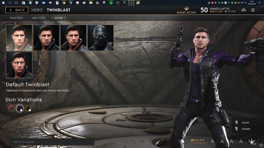 TwinBlast Purple Default skin