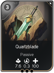 Quartzblade card