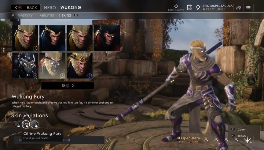 Wukong Lavender Fury skin