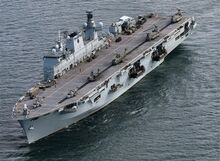 HMS Ocean is an amphibious assault ship